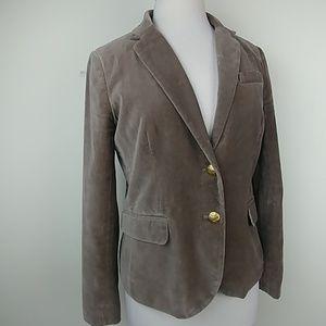 J.Crew velveteen schoolboy blazer, mocha color sz6